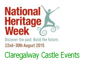Click here to see Claregalway Castle events for Hetitage Week.